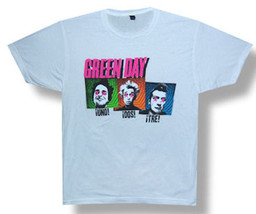Green Day-Connect-Band Faces-White T-shirt - $13.99