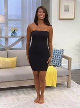 Nearly Nude Seamless Smoothing Strapless Dress-Black- 2X -NEW-663658 - $24.74