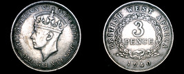 1940-KN British West Africa 3 Pence World Coin - $12.99