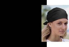 """BLACK SOLID 22""""Cotton BANDANA Head Neck Wrap Scarf Scarve Handkerchief H... - $4.79"""