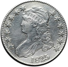 1825 Capped Bust Silver Half Dollar 50¢ Coin Lot# A 390