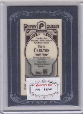 2012 Topps Gypsy Queen GQMR-SC Steve Carlton Not Graded