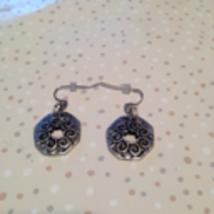 silver toned dangling pierced earrings - $19.99