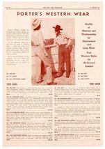 Porters Western Wear Catalog AD 1947 Cowboy Cowgirl Fashion Clothing of ... - $14.99