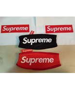 Supreme Hypebeast RED BLACK Fleece Headband Classic Box Logo FW Lined US... - $29.95