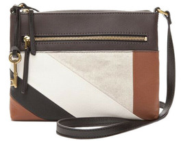 Fossil Fiona Small Crossbody Handbag Leather Neutral Stripe - ZB7421558 - $64.99