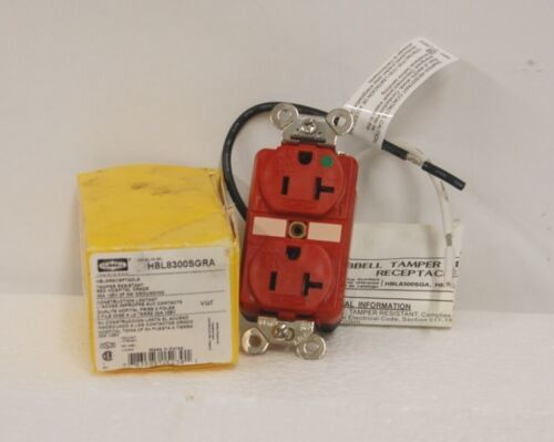 Hubbell HBL8300SGRA Tamper Resistant Receptacle Red Hospital Grade
