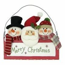 St. Nicholas Square® 2 Snowmen & Santa Merry Christmas Wall Decoration - $21.95