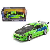 Brians Mitsubishi Eclipse Green The Fast & The Furious (2001) Movie 1/24... - $30.60