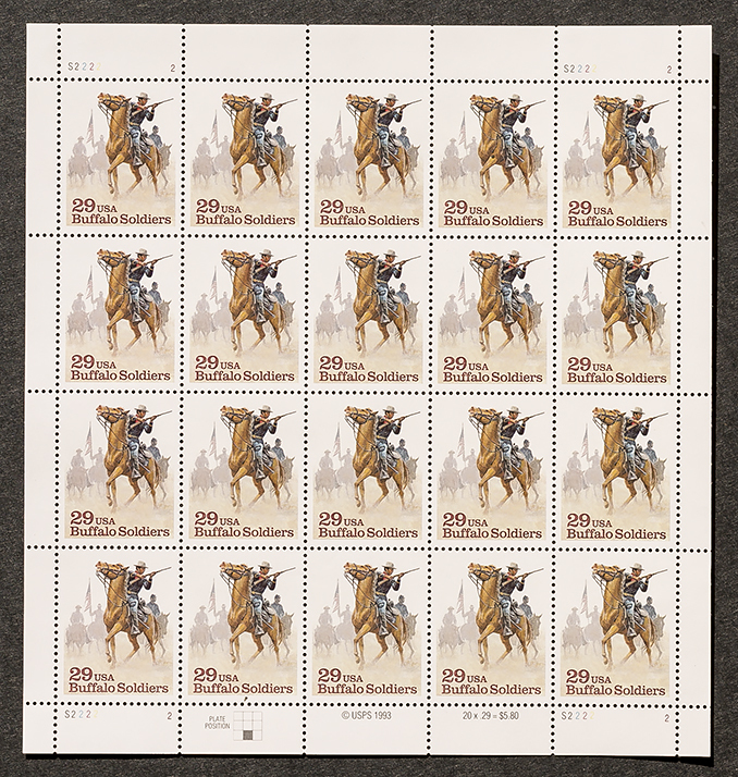 Buffalo soldiers 29 stamps