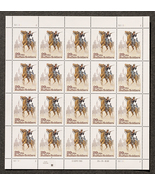 Buffalo Soldiers, Sheet of 29 cent stamps, 20 stamps total - $8.50