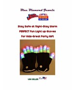 Creepy Glow Gloves LED Flashing Gloves 7 Mode Light Up USA SELLER! - $7.50+