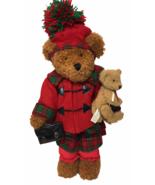 RARE Dan Dee Momma Bear & Cub Plush Hugging Christmas Holiday HTF Pom Po... - $150.00