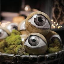 Set of 8 Spooky Creepy Eye Spheres Balls Halloween Haunted House Decor - £36.38 GBP