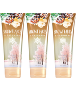 Bath & Body Works Snowflakes & Cashmere Body Cream Set of Three 8oz Tubes - $28.45