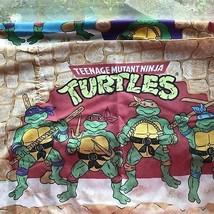 Teenage Mutant Ninja Turtles Twin Flat Sheet & Pillowcase Gently used ht... - $9.99