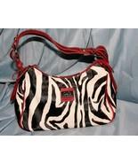 D&G Dolce Gabbana Small Leather Zebra Stripe Handbag Purse  - $66.63