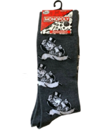 Monopoly Rich Uncle Pennybags Board Game Men's Gray Novelty Crew Socks (... - $14.49