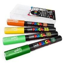 Uni Posca - PC-1M Kunst Farbe Stifte - 4er Packung - in Brieftasche - Zitronen - $15.34