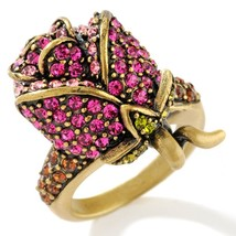 Heidi Daus Crystal Rose Design Ring different sizes - $68.95