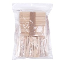 Senkary 500 Pieces Wooden Wax Sticks Waxing Sticks Wood Wax Applicator Sticks fo image 8