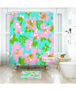 Flower Lilly Mojo Shower Curtain Waterproof & Bath Mat For Bathroom - $15.30+