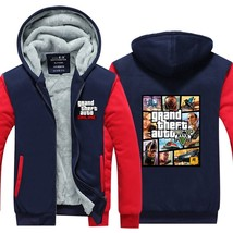 2018New Arrival Grand Theft Auto V Gta Winter Men Hoodies Fleece Thick Jackets S - $66.30
