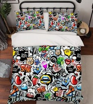 3D Anime Graffiti 116 Bed Pillowcases Quilt Duvet Single Queen King US Summer - $102.84+