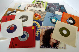Vintage Vinyl Record Collection 45's Various Artists 19 Pc Estate Lot 60... - $31.15