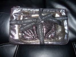 Victoria's Secret 3-PIECE Metallic Leopard Makeup Bag Set New Htf - $21.84