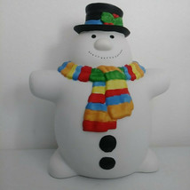 Department 56 Ceramic Snowman Music Box plays Frosty the Snowman - $33.81