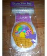 Pack of 12 Happy Easter Basket Treat Bags Sacks Zipper Closure Party Sup... - $7.00