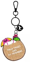 Victoria's Secret PINK Palm Trees and 80 Degrees Mirror Key Chain Bag Ch... - $6.75