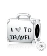 I Love Travel Luggage 925 Authentic Silver Original Pandora Charm Bracelet - $10.95