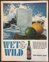 Vintage 1966 7 Up Print Ad Wet & Wild Lemon Lime Fight Against Thirst - $10.89