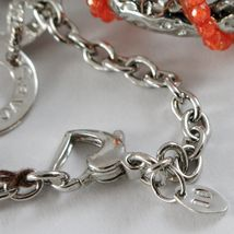 Necklace Silver 925 with Pendant Big Heart Milled and Carnelian, Chain Rolo ' image 6