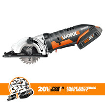 WORX 20-Volt Cordless Circular Saw with 3-3/8-Inch Blade, WX523L - $199.98
