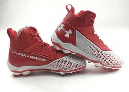 Under Armour Performance Hammer MC Football Cleat Red White US Men's Size 9 - $69.29