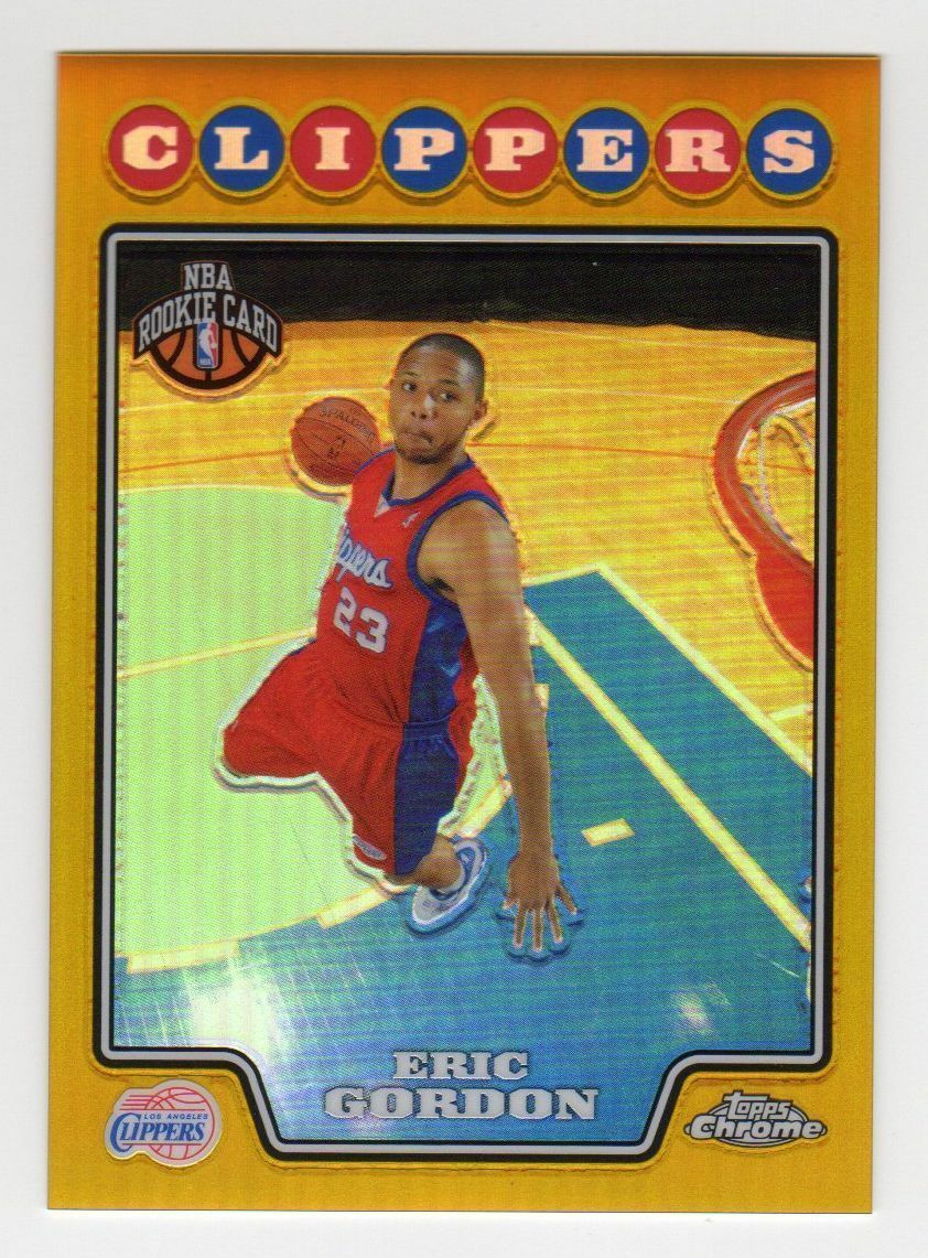 2008-09 Topps Chrome Eric Gordon RC GOLD Refractor #41/50