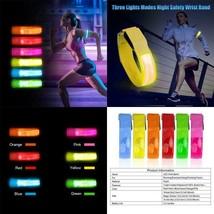 Outdoor Sports Night Running Armband Led Light Safety Belt Arm Leg Warni... - £8.87 GBP