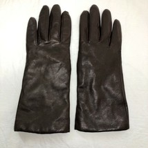 LL Bean Leather Gloves Cashmere Lined Womens Size 7 Soft Chocolate Brown... - $44.54