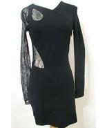 VERSUS VERSACE Dress Bodycon Black Bias Lace Cut Out Asymmetrical NWOT 6/42 - £478.93 GBP