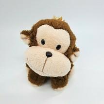 "6"" Aurora Monkey Brown Sitting w Floppy Head Soft Plush Stuffed Animal T... - $12.97"