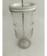 Vintage Western Oil Mayonnaise Maker Mixer With Recipe Embossed On Glass... - $45.53