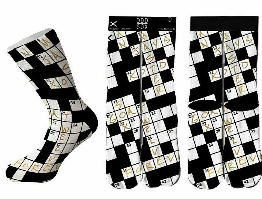 Odd Sox Crossword Puzzle Socks Checker OSWIN16WORD 6-13 NWT