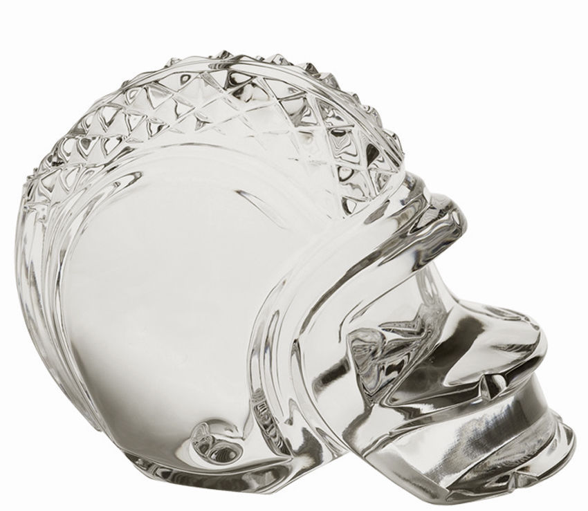 Waterford Crystal Football Helmet Paperweight Made In Ireland New In Box image 3