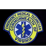 Virginia Commonwealth EMT VA Medical Royal Blue Golden Yellow Emblem Pat... - $7.73