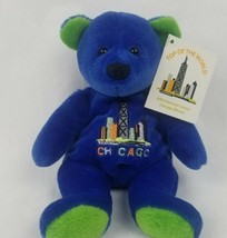 "Mary Meyer Bear 7"" Plush Teddy Chicago Blue Stuffed Animal Souvenir Tour... - $10.94"