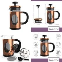 Design Kaffeebereiter Und French Press Coffee Maker Kupfer 350ml 3 Tasse... - £32.75 GBP