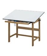 "Alvin Titan Solid Oak Table - Natural Finish 37 1/2"" x 60"" x 37"" - $709.38"